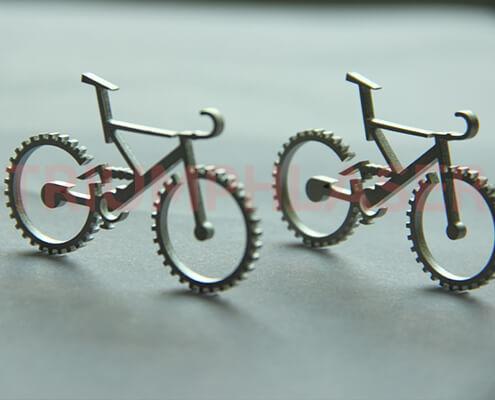 激光切割不锈钢自行车